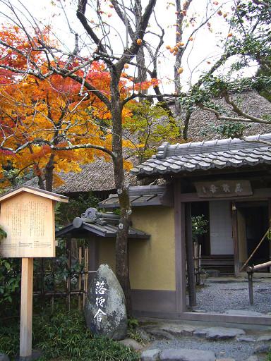 在菜圃對面的是落柿舍,是一座很有日式風味的小草庵
