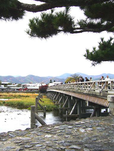 渡月橋橫跨桂川,全長有155公尺