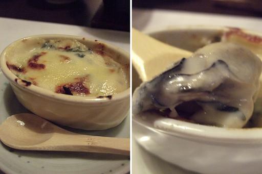 起士、牡蠣、醬汁,三者超完美的合而為一