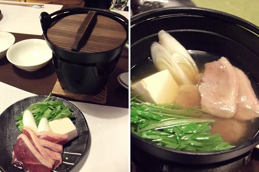 第三道是鴨鍋,熱熱的湯喝下肚子非常舒服