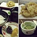 最後的飯照例伴隨著漬物及味噌湯一齊登場,小玉選的是ご飯とかき揚,搭配有一小份的炸什錦。