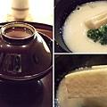 吃完了前面三道料理,接著上桌的是一只黑亮的漆碗。