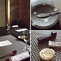 這裡使用的食器,都是具有古樸美感的信樂燒。