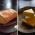 有著酥脆外皮的麵包,塗上厚厚的奶油一起吃,越嚼越是「煞嘴」哩!