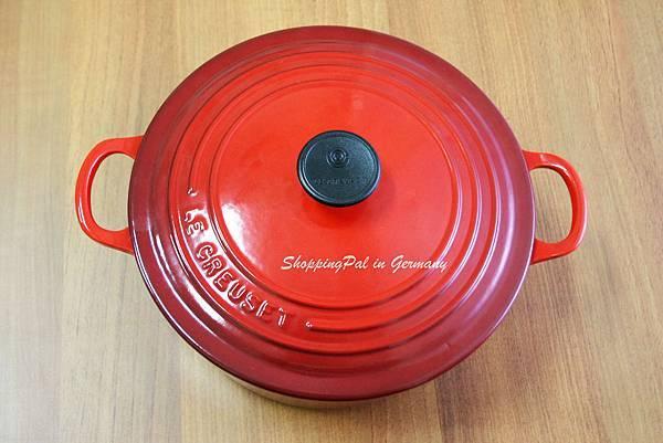LE CREUSET 圓形鑄鐵鍋-櫻桃紅
