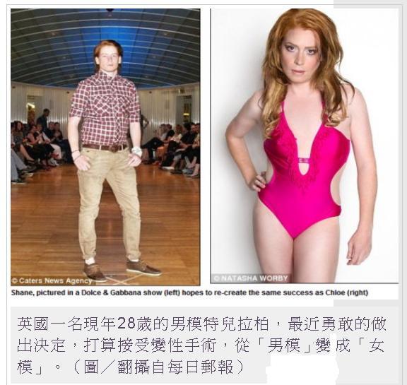 從男模變女模1