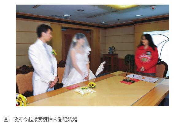 香港變性人可結婚登記