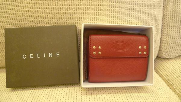 No. 6- CELINE 中古紅色經典皮夾 - 品牌紙盒並附防塵套