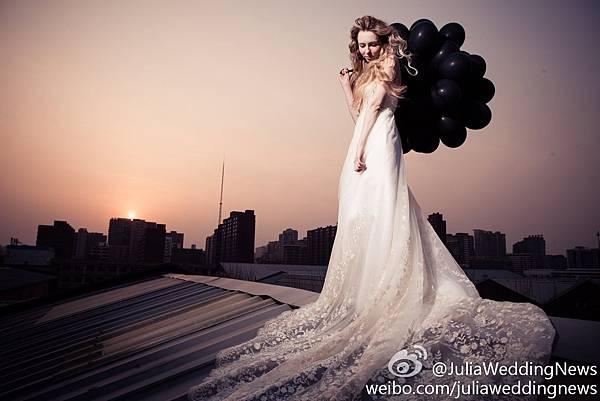 〈JULIA‧禮服〉復古蕾絲花白紗