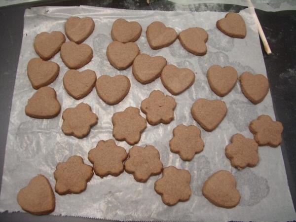 烤好了!!巧克力奶酥餅乾~!