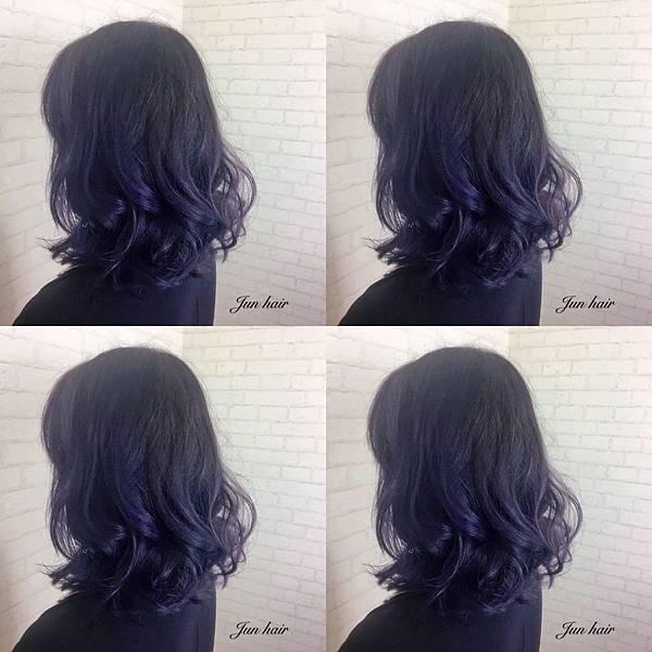 歐美式手刷染髮,紫灰色系.jpg
