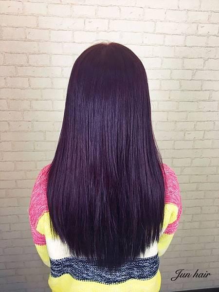 深紫紅色系,台北,北車推薦女生染髮.jpg