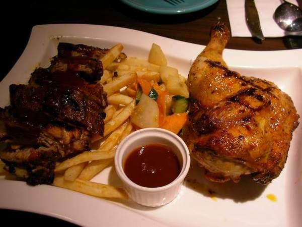 肋排+甜烤雞