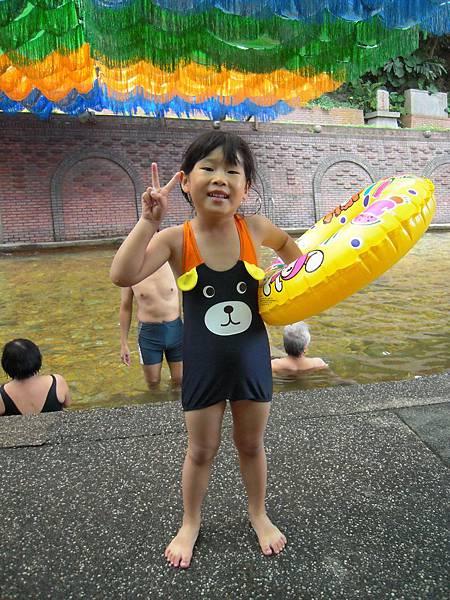 可愛泳裝第二次亮相