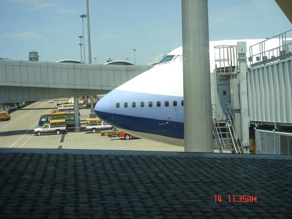 到香港機場啦~~