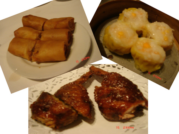 好吃的_春捲+糯米雞腿+燒賣...讚~