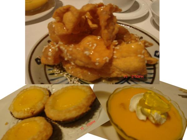 超棒的_蛋塔+芒果+麻花...好好吃的甜點丫..