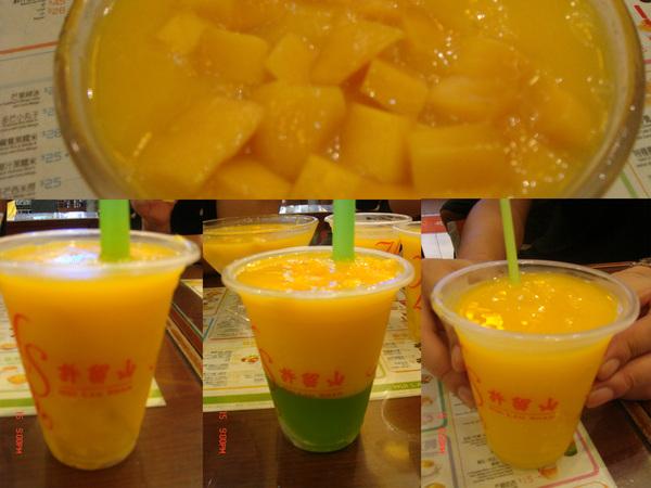 許留山的_芒果冰+芒果汁+芒果蘆薈+芒果忘了..哈~