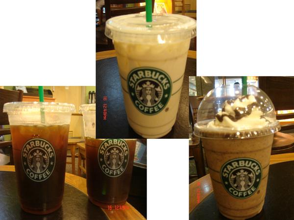 Starbucks_咖啡+冰沙+薰衣草花果茶