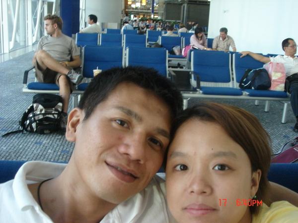 香港機場_要登機前來一張~