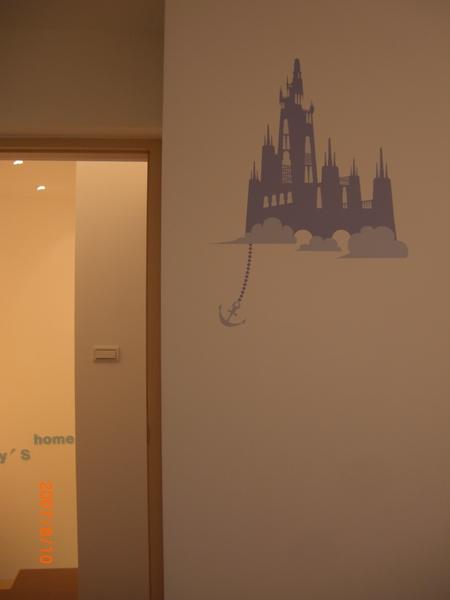 主臥室的小貼紙