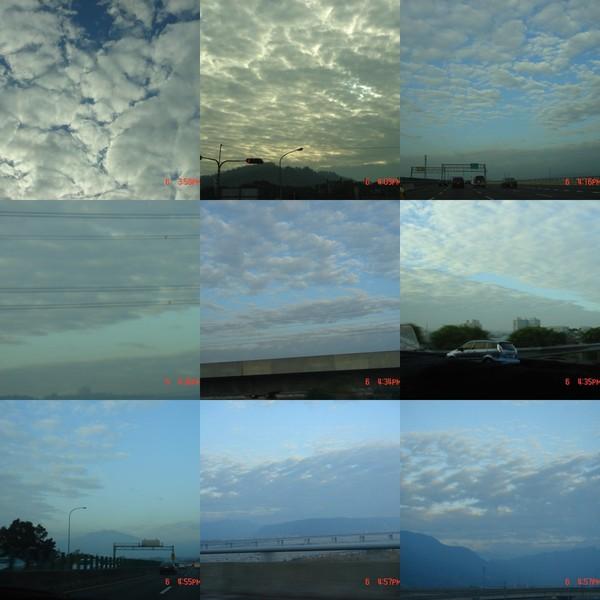 回程路上變化多端的雲呀~~~