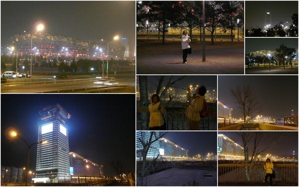 """Day2 _2008年奧運場地-""""鳥巢"""".""""水立方""""..很冷..@@"""