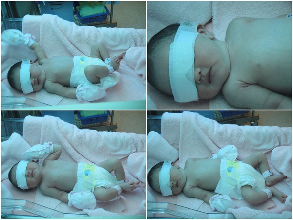 20090625_在照黃疸的小Baby