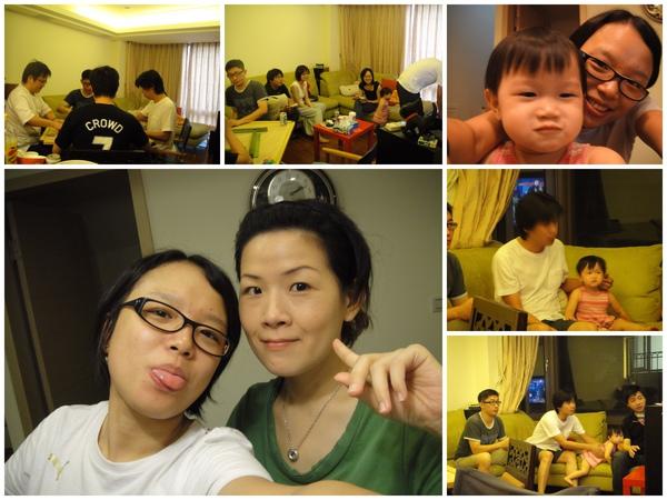 2009年8月15日大家來到毛宅同樂囉~