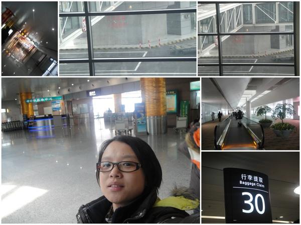 呼..下機後..上海竟然下雪囉~~