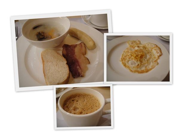 飯店附的早餐...菜色不多...