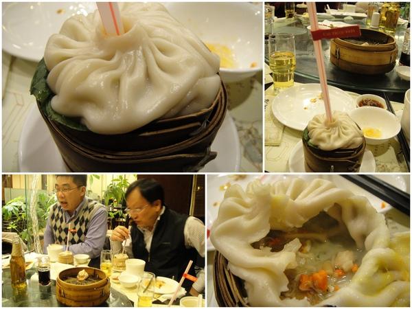 灌湯包..第一次吃..有驚豔的fu~~~