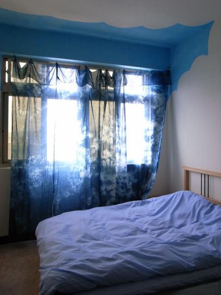 海藍的雙人床
