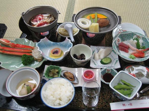 第一天晚上的日式宴會料理