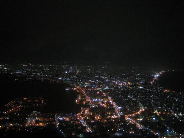 坐纜車至函館山看百萬函館夜景
