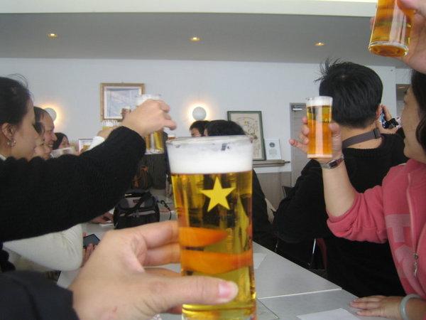 喝到超第一番榨的啤酒