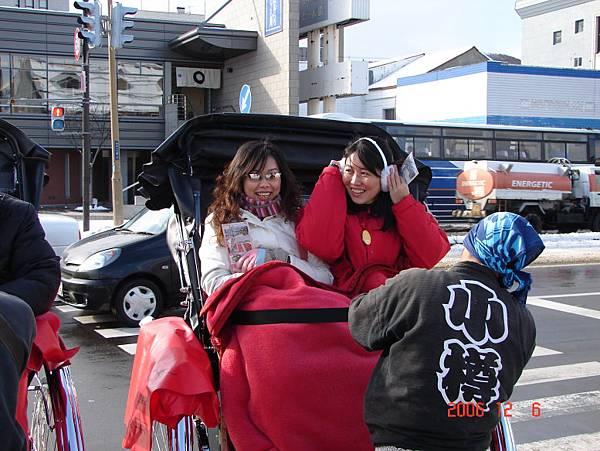 小樽搭人力車