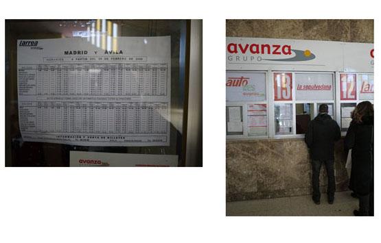 bus station at Avila