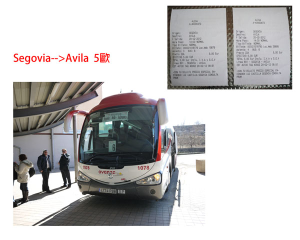 bus form segovia to avila