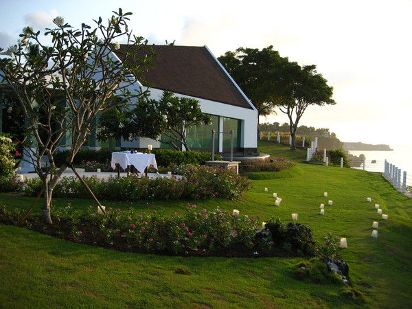 villa左邊的view