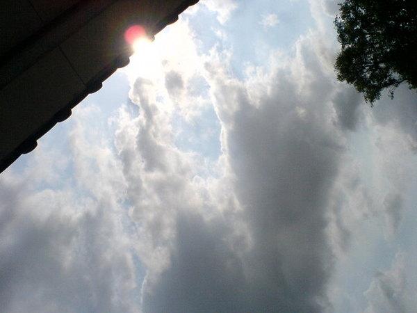 這是我家後門的天空.JPG