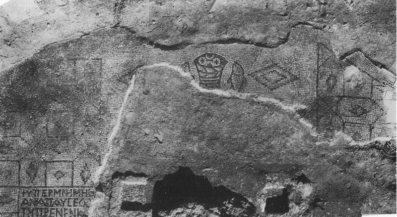 Tabgha five 5 loaves two 2 fish  mosaic at excavation[1]_調整大小.jpg