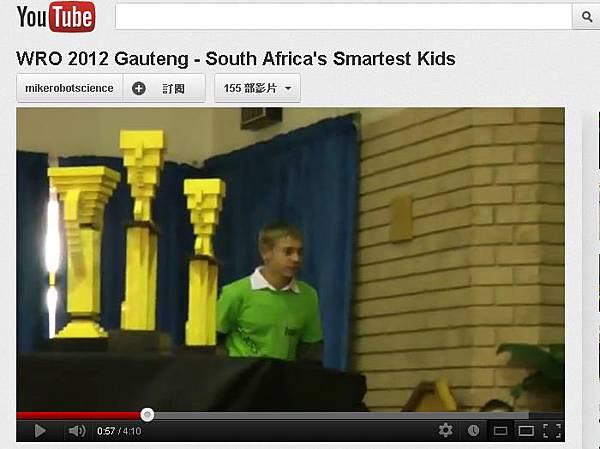 WRO 2012 Gauteng - South Africa's Smartest Kids