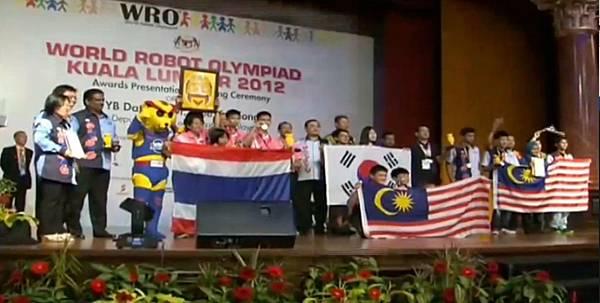 wro2012國際競賽國中組頒獎