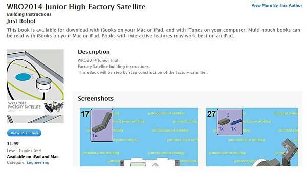 WRO2014 Junior High Factory Satellite