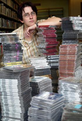 1300 Whitney CDs flooding School's library