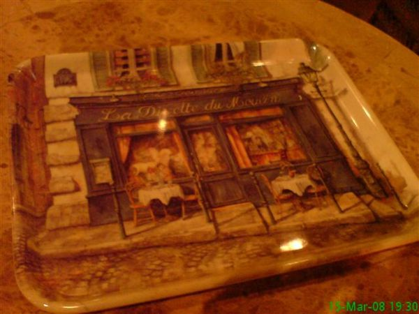 the tray