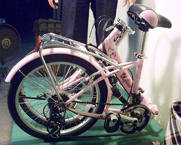 腳踏車折疊後如要立著放進車廂裡