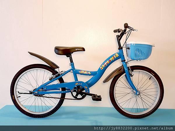 20吋單速S型兒童腳踏車-藍色