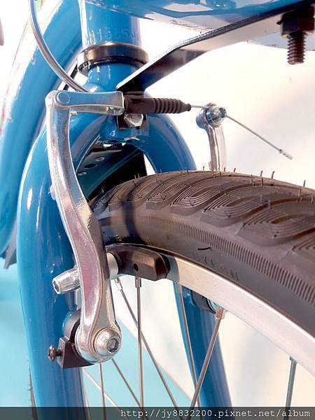 車頭附防盜條碼、全鋁合金V型煞車系統